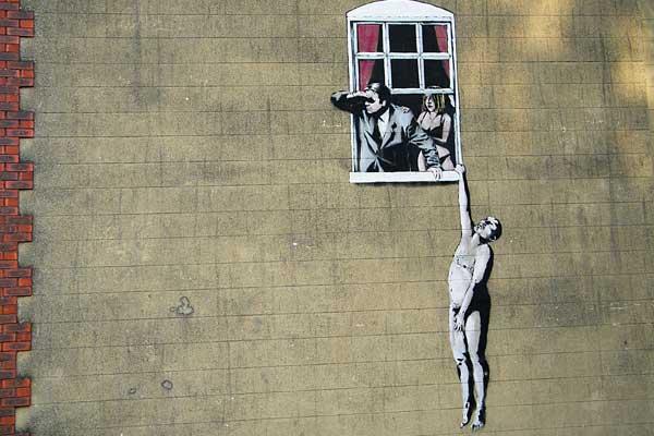 BANKSY ศิลปิน Graffiti2